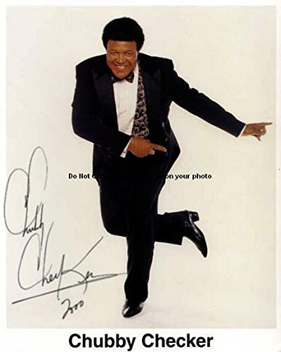 Checker Chubby Autographed Preprint Signed Photo