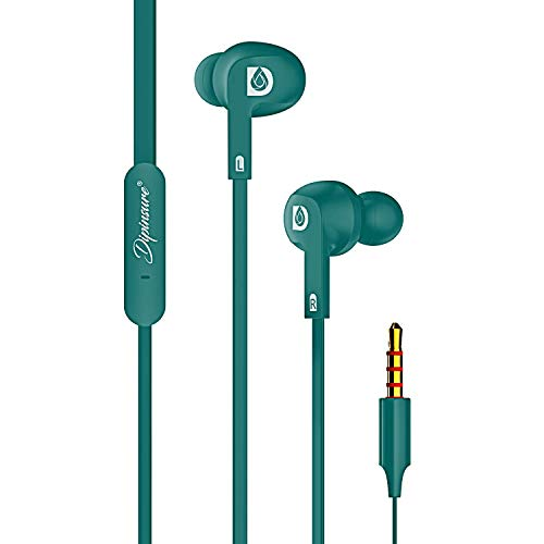 Dipinsure Vibrant Wired Earphones with mic Super Extra Bass in Ear Stereo Headphones  Gold Plated 3.5 mm Jack
