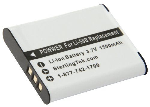 STK's Olympus LI-50B Battery - 1500mAh for Olympus XZ-1,SP-800UZ,SZ-30MR,XZ1,SZ-10,SZ-20,SZ-11,SP800UZ,Olympus Stylus Tough-6020,Tough-8010,Tough-6000,9000,Tough-8000,1010,Tough TG-810,1030 SW,Olympus SP-810UZ,Tough TG-610,TG610,SZ10,Tough 8000,1030SW,TG810,SZ30MR Li 50b Replacement