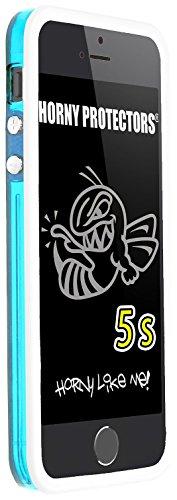 Horny Protectors iP5s-4004 Bumper TPU Schutzhülle für Apple iPhone 5S blau/transparent weiß