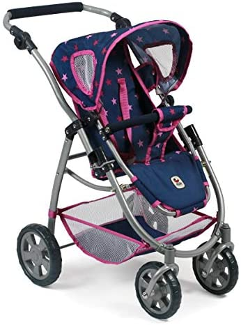 Bayer Chic 2000 637 72 Kombi-Puppenwagen Emotion 3-in-1 All In, Stars navy