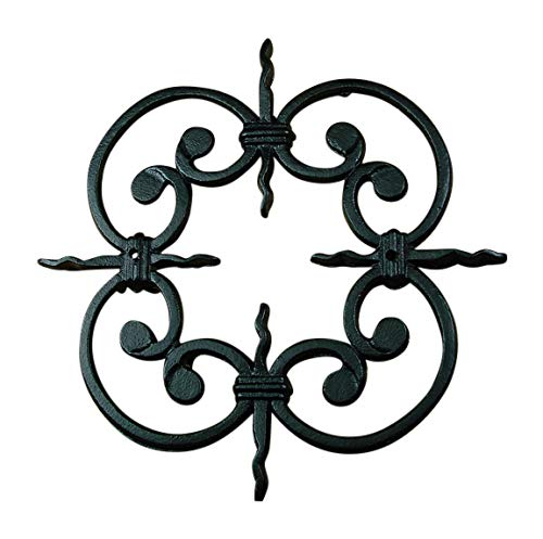 - Speakeasy, Window or Gate Grille, Solid Iron, Black Finish Deco Grille #2