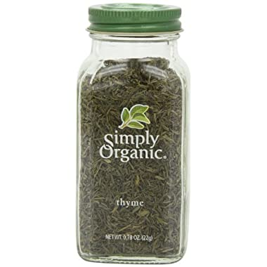 Simply Organic Thyme Leaf Whole Certified Organic Containers - 0.78 oz