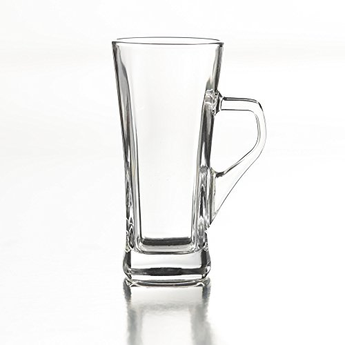Style Setter Piazza Irish Coffee Square Mugs (Set of 4), Clear 4 Irish Coffee