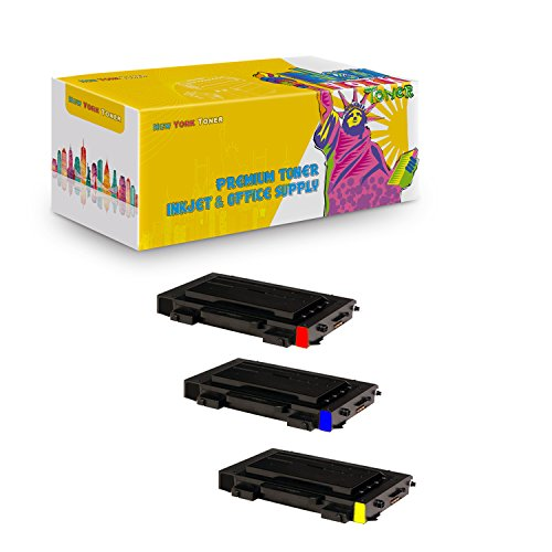 New York TonerTM New Compatible 3 Pack CLP-510D5C CLP-510D5Y CLP-510D5M High Yield Toner For Samsung - CLP-510N | CLP-510NG . -- Cyan Magenta Yellow ()