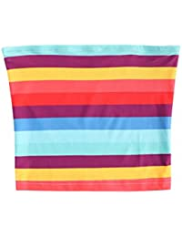 Women's Sexy Strapless Basic Stretchy Bandeau Tube Top