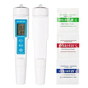 eDealMax medidor de pH Digital de alta precisión de Los hogares de pH Tester de pH ...