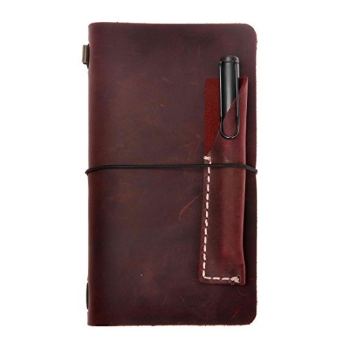 Refillable Travelers Notebook Vintage Leather Journal Set, 4.7