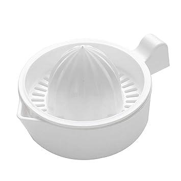 Flyingmoon-EU Exprimidor para frutas y verduras - Exprimidor manual de cocina de limón y naranjas con exprimidor de frutas, sin BPA, color blanco: ...