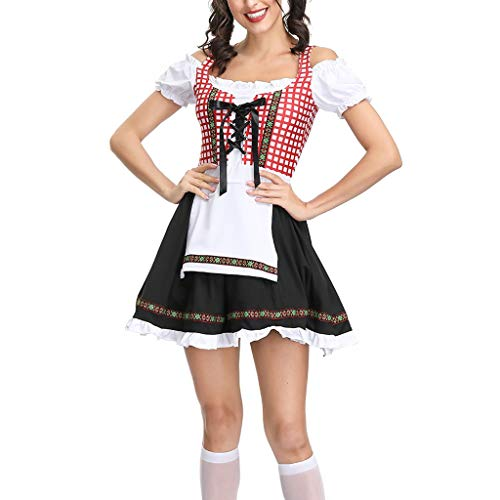 Women's Beach Mini Dress - ✔ Hypothesis_X ☎ Costumes for Oktoberfest Carnival Halloween Casual Short Dress Red