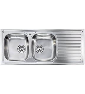Lavello cucina appoggio Apell mod. Pisa in acciaio Inox, misura cm ...