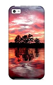 linJUN FENGNew Style Case Cover PRTGZqC1329WMvQX Red Sky Reflecting On Water Compatible With iphone 6 plus 5.5 inch Protection Case