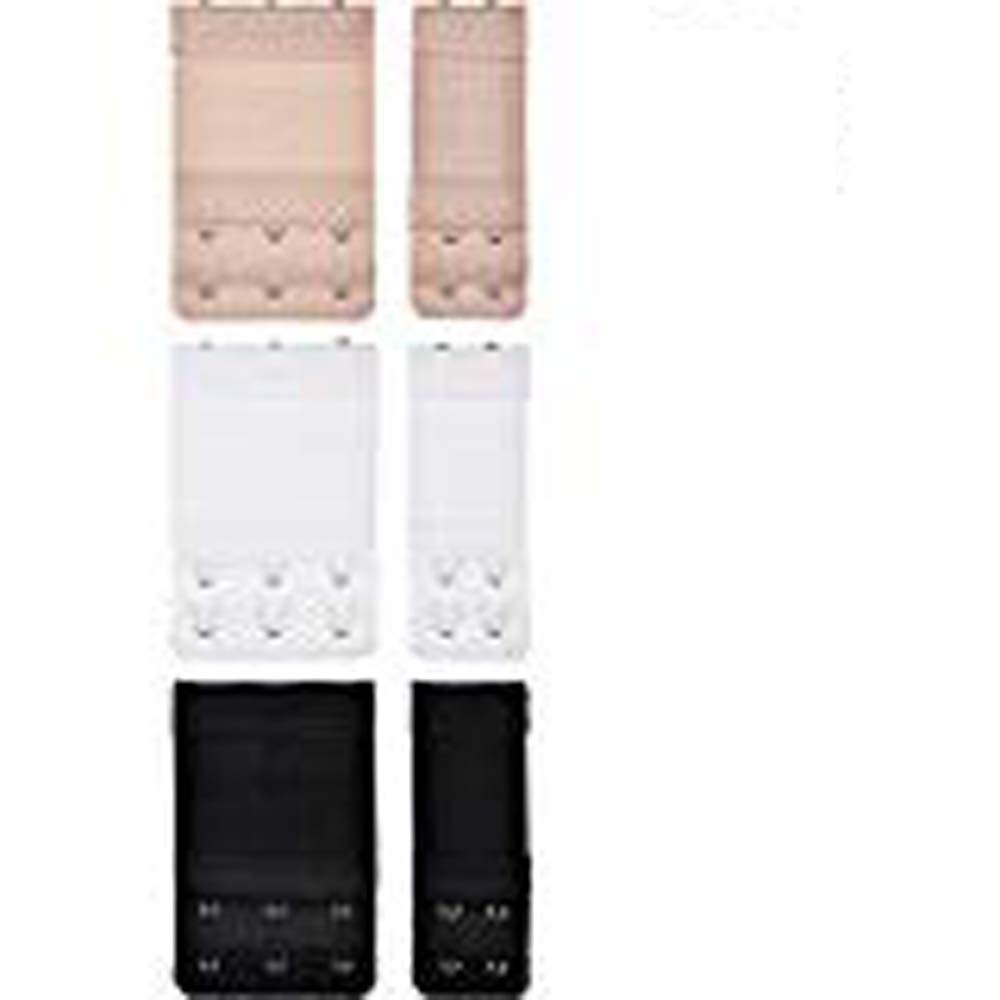 12 Pcs Ladies Bra Extension Strap Underwear Strapless , 2 Hooks and 3 Hooks