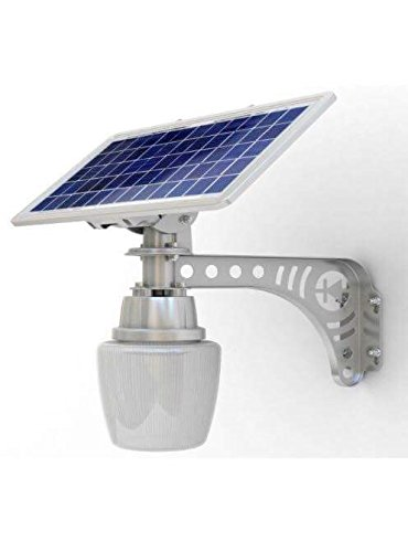 2 pack Unique REAL SOLAR PANEL Patio Safety and Security Lamp 2 Pack Residential or Commercial 800 (Commercial Lamp Post)