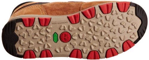 Timberland SCRMBL EK LACE CHK BROWN 2593R - Botas de cuero nobuck para niño Marrón (Braun (Brown))