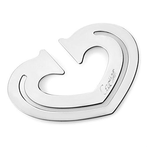 (Cartier Stainless Steel Heart Bookmark T1220265)