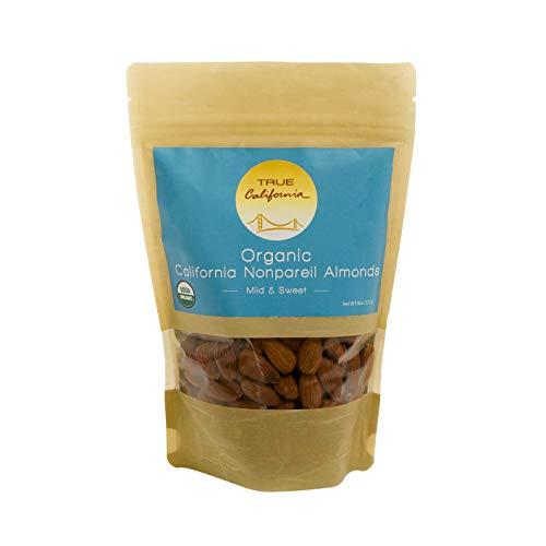 True California Organic US Supreme #1 Raw Nonpareil Almonds, 8oz ()