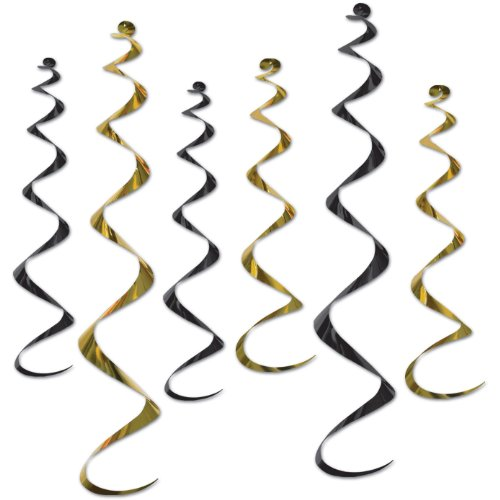 Beistle 50065-BKGD, 6 Pieces Twirly Whirlys, 24