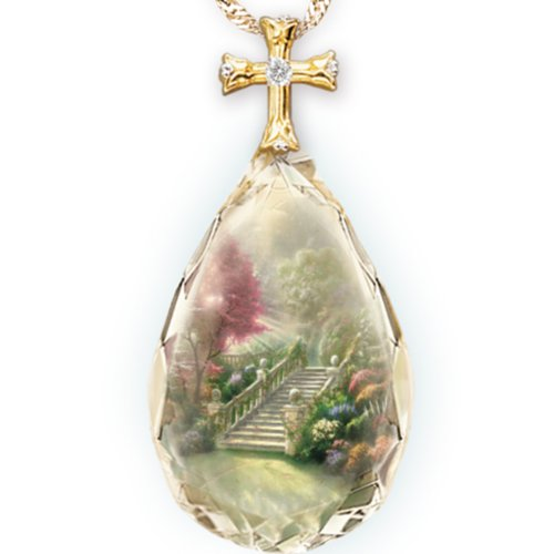 Thomas Kinkade Jewelry (Thomas Kinkade Stairway To Heaven Pendant Necklace by The Bradford Exchange)
