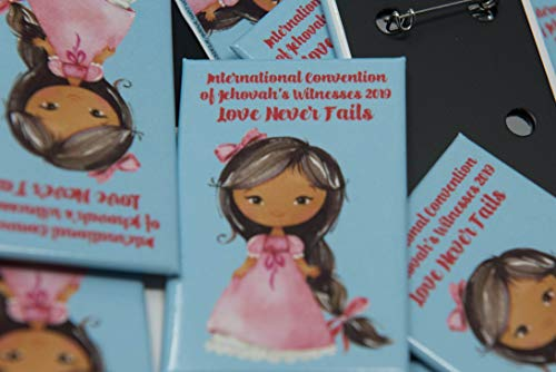 READY TO SHIP - ENGLISH FOR KIDS - 50 Lapel Pins Buttons for the International Convention of Jehovah's Witnesses 2019, JW gifts, JW shop, Convention Souvenirs ()