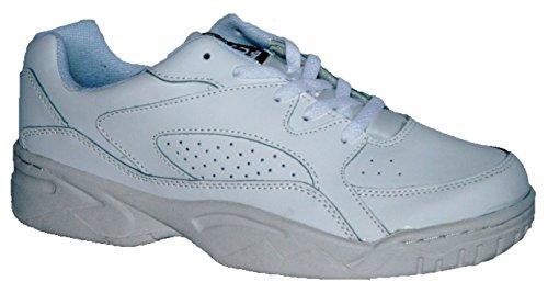 keine Rutsch Herren Sohle Passform lace white Turnschuh breite Leder Obermaterial mit 0YR4qx