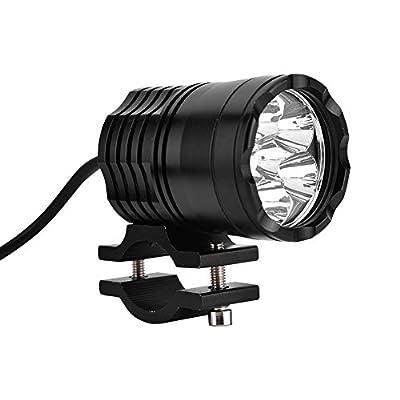 Qiilu Motorcycle LED Headlights DC 12-80V Universal Motorbike Front Spotlight Head Light Lamp