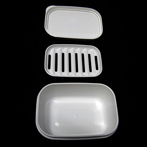 Portable Rectangular Soap Case Airtight Container Soap Tray