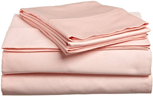 Laxlinen 550 Thread Count 100% Egyptian Cotton Super Quality 1PC Flat Sheet(Top Sheet) Twin Extra Long Bed Size, Peach Solid