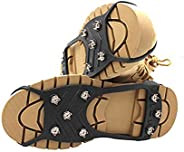 8 Metal Studs Anti Slip Ice Snow Grips Crampons Walk Traction Cleats for Boots and Shoes
