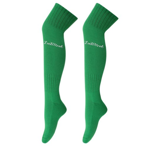 Luwint Cotton Thicken Long Soccer Socks for Men and Women (Green) for $<!--$10.99-->