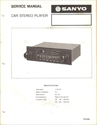 Admirable Sanyo Ft478 Ft 478 Car Stereo Player Service Manual Sanyo Amazon Wiring 101 Akebretraxxcnl