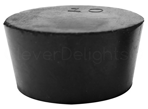 10 drilled rubber stopper - 8