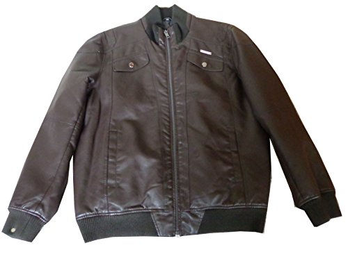 - Rocawear Men's Brown Stylish PU Jacket (2XL)