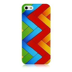 HP-Patrón de colores línea caja suave de silicona para el iPhone 4/4S