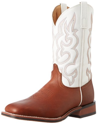 Laredo Lodi Men's Cream Leather Boots 11.5 EW