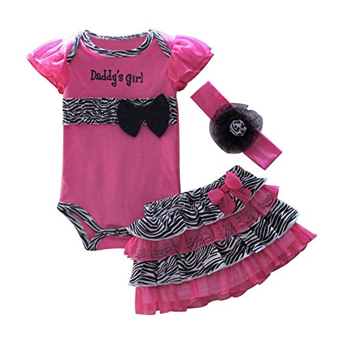 Mud Kingdom Thanksgiving Baby Girl Outfits Daddy's Girl 6 Months Zebra Cute Hot Pink]()
