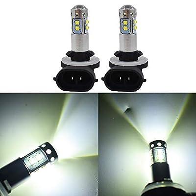 2pcs 881 100W LED 6000K White Headlight Bulb For 2009 2010 Polaris Ranger RZR 800 EFI: Automotive
