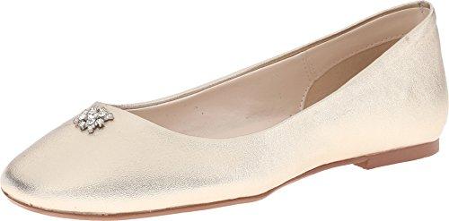 Caparros Kvinners Nedfallsfrukt Ballet Flat Platino Metallisk