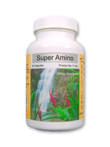 Super Amino Acid Amazing Natural Protein Muscle Growth Supplement with Whey Protein and Homeopathic Cell Salts 90ct