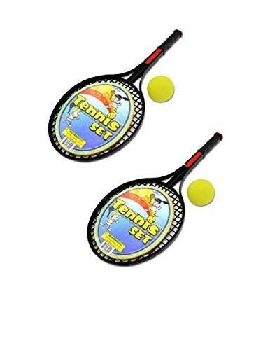 Tennis Racket Two Piece Active Play Set WithTwo Foam Balls (Racket Plastic Tennis)