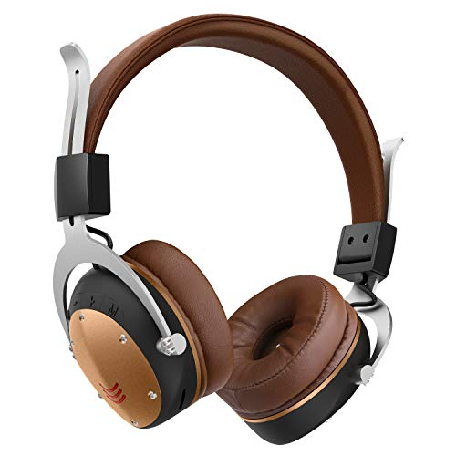 Wireless Over Ear Headphones,Bluetooth Headphones Over Ear with Built-in Microphone – Soft Memory Protein Ear Muffs – HD Sound Quality – Long Autonomy – Comfortable Design – 3 Modes [Bluetooth 5.0]