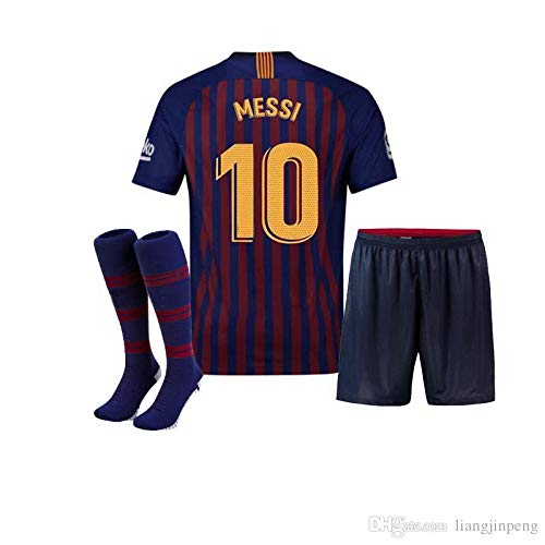 Conjunto - Kit 1ª Equipación Replica Oficial FC BARCELONA 2017-2018 Dorsal  MESSI - Tallaje NIÑO  Amazon.es  Ropa y accesorios 810737bff81
