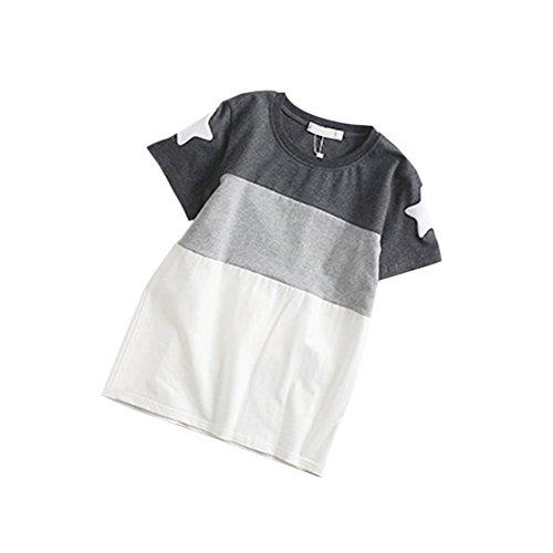 Da Adulti Manica Xinvision Genitore Camicetta Star Degli Donna Cucitura Cime T Ragazzo shirt Corrispondenza bambino Pattern T Colore Corta Estate Di Abiti Famiglia x61fwx