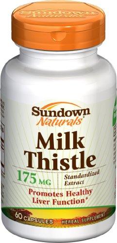 Milk Thistle Sundown Standaardized 175mg Capsules - 60-Count (Pack de 2)
