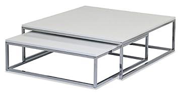 Aspect Oslo Lot De 2 Table Basse Gigognes Table En Bois Top Pieds
