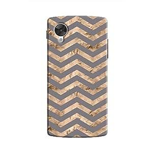 Cover It Up - Brown Grey Tri Stripes Nexus 5 Hard case