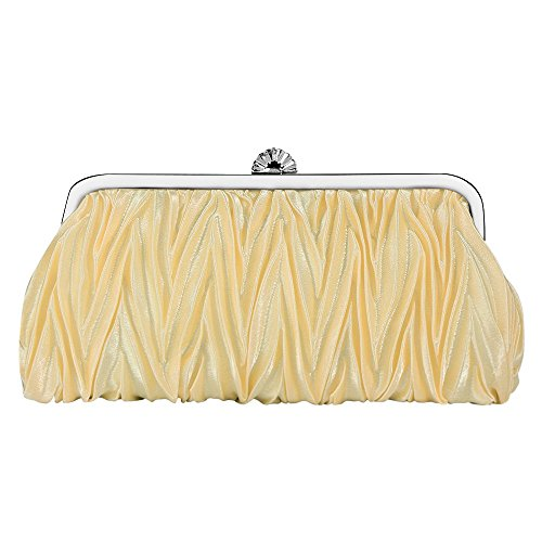Evening Purses Satin Gold Handbag Clutches Pleated Bagood Shoulder Envelope Bags Women's for Wedding Bag 04nI5OqxS