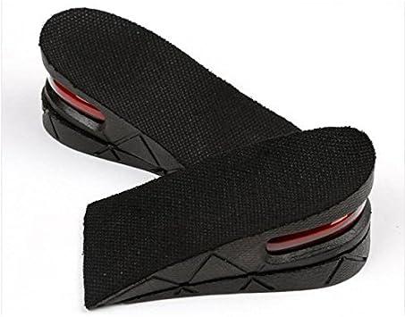 DZT1968® Unisex Shoes Insole Height Increase Air Cushion Heel Insert Taller Lift 5cm/2 inch (Black)