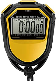 Fesjoy Stopwatch,Waterproof Stopwatch Digital Handheld LCD Timer Chronograph Sports Counter with Strap for Swi