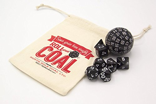 Roll Versus Coal - Novelty Dice Stocking Stuffer for RPG - Novelty Dice
